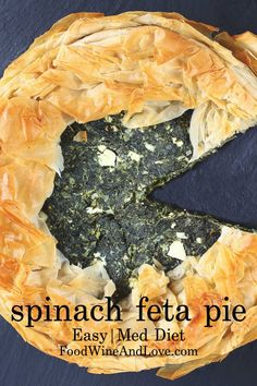 This easy Spinach Feta Pie recipe is delicious and also the perfect appetizer or addition to your next meal. It Is also Mediterranean Diet Friendly. Best Appetizer Recipes, Fun Easy Recipes, Summer Recipes, Easy Meals, Appetizer Ideas, Amazing Recipes, Delicious Recipes, Bite Size Appetizers, Healthy Appetizers