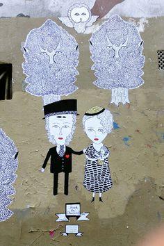 Paris 11 - avenue Jean Aicard - street art - Fred le chevalier