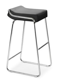 Wedge Bar Chair Black