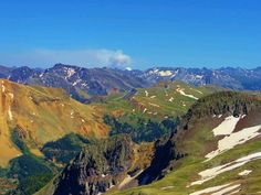 Imogene Pass Summit, Ouray to Telluride, elevation at 13,114 - 13,368 ft.   ~shd