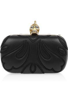 Alexander McQueen|Punk Baroc Skull leather box clutch|NET-A-PORTER.COM
