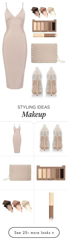"""Beige"" by melaniemeran on Polyvore featuring Casadei, Valentino, Urban Decay and Dolce&Gabbana"