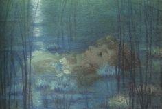 Ophelia, Portrait of Suzanne Reichenberg - Lucien Lévy Dhurmer