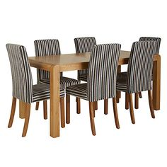 Buy John Lewis Radius 6 Seater Dining Table with 6 Dining Chairs Online at johnlewis.com