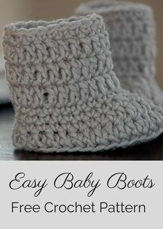 Easy Baby Boots By Posh Patterns - Free Crochet Pattern - (poshpatternsblog)