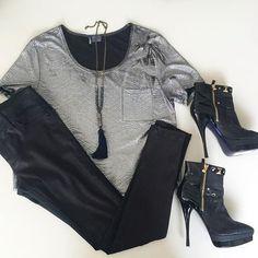 Sparkle & Fade DL1961 Denim & Versace Heels! #ShopMintATL Call 404-343-2033 for sizes & prices