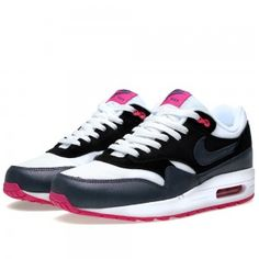various colors 81025 07f52 Lqoc Nike Air Max 1 Womens Mens Unisex Essential White Dark Armory Blue  Shoes