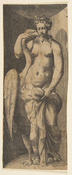 Giulio Bonasone (Italian, active Rome and Bologna, 1531–after 1576), Leda…