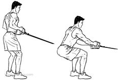 Cable Squat Rows