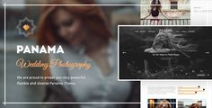 Photography WordPress Theme: Portfolio & Transitions: Panama . Panama is a modern WordPress Theme for Photographers & Creatives. Packed with animations & transition effects, 1 Click Demo import & 6 months
