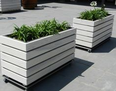 modern diy wooden planter plans on wheels