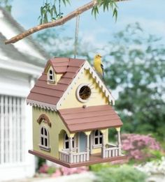 Wooden Victorian Style Hanging Birdhouse: