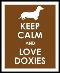 Our family friend when I was growing up, always had doxies - too cute! She would love this.