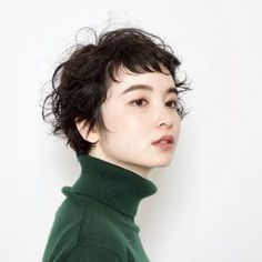 Pin on ボブ Cut My Hair, Her Hair, Medium Hair Styles, Curly Hair Styles, Modern Short Hairstyles, Mullet Hairstyle, Salon Style, Asian Hair, Permed Hairstyles