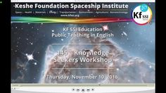 145th Knowledge Seekers Workshop Nov 10th 2016