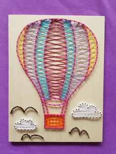 My new rainbow pink String Art balloon  I decided to take the white string off ans took the pink instead :) i think it looks much better now  #inlovewithstringart