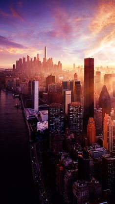 City Skyscrapers Landscape #iPhone #5s #Wallpaper