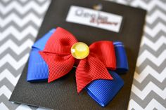 Sailor Moon Inspired Hair Bow Clip with Glass Broach Center- by Geeks N Gamers Sailormoon Anime Manga via Etsy