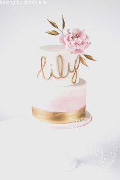 Elegant Blush Watercolour and Peony Christening Cake! Peony adorned cake by Juniper Cakery. Elegant Blush Watercolour and Peony Christening Cake! Peony adorned cake by Juniper Cakery. Gold Birthday Cake, Birthday Cake Girls, First Birthday Cakes, Fondant Birthday Cakes, Cake Fondant, 13th Birthday, Best Friend Birthday Cake, Birthday Cake Designs, Birthday Ideas