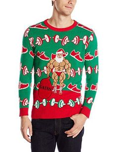 Blizzard Bay Men's Xmas-Fitness Ugly Christmas Sweater, Green/Red/Beige, Small Blizzard Bay http://smile.amazon.com/dp/B012TJARYS/ref=cm_sw_r_pi_dp_534uwb07H7YPW