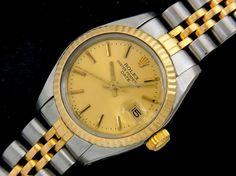 Rolex 【ROLEX】アンティークロレックスデイト6917コンビレディース 時計 Watch Antique ¥129000yen 〆05月22日