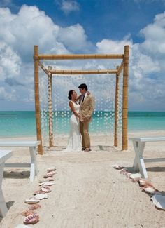 Beach wedding in Antigua.  C2C Travels can coordinate the perfect destination wedding travel for you.  2744.mtravel.com