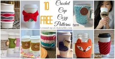 10 Free Crochet Cup Cozy Patterns