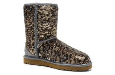 Womens Uggs Sparkles Classic Short Boots<<< am I the only one who doesnt like uggs?