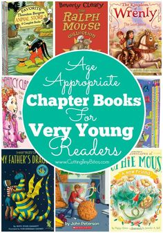 Age-appropriate chapter books for very young readers. Books for 4 and 5 year olds who are reading well on their own.
