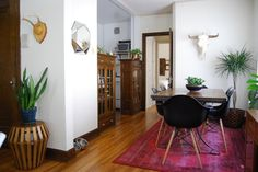 kitchen divider from two vintage cabinets - Julie's Northwoods-Meets-Art Deco Apartment in Minneapolis