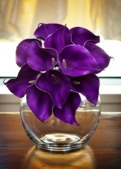 Purple Real Touch Calla Lily Wedding Bouquet by HowDivineAustralia, $55.00