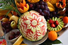 fruit carving for special events
