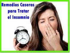 Remedios caseros para tratar el insomnio - YouTube