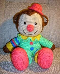creatief met naald en draad: Clown Happy