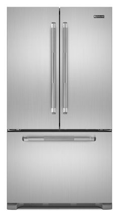 We like the commercial-grade look of the Jenn Air handles (but for a fraction of the cost of a Subzero)