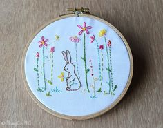 Stitch your very own Garden complete with a Bunny! Created from my own original illustration (see final image) and simplified to create a relaxing pattern to stitch.  ♥ You will receive: * PDF Pattern of 6 pages with instant download after purchase * Easy to follow Instructions including transferring the image * Thread & Stitch guide * Finished size - 5 tall and 5 wide, although you are free to enlarge or decrease it to any size you would like.  Happy Stitching x  You will need Adobe Acrobat…