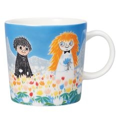 """Moomin Mugs from Arabia – A Complete Overview Friendship / Ystävyys The motif comes mainly from the story """"Who Will Comfort Toffle? The mug is sold only in Finland. Moomin Shop, Moomin Mugs, Norfolk, Moomin Valley, Tove Jansson, Beautiful Series, Shape Design, Finland, Friendship"""