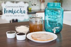 """For many years now, our family has been drinking kombucha. From the days when, upon hearing the word """"kombucha"""", we were met with faces of utter confusion a(. Kombucha Tee, Kombucha Drink, Kombucha Flavors, Yummy Drinks, Healthy Drinks, Fruit Drinks, Healthy Meals, Healthy Eating, Continuous Brew Kombucha"""