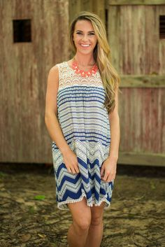 Wave Of Honor Dress, Navy
