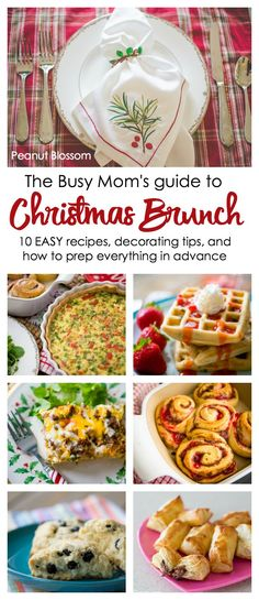 The busy mom's guide to Christmas brunch: easy Christmas morning recipes, simple decorating tips for a festive table, and how to prep it all in advance to save yourself time. Christmas Brunch Menu, Christmas Breakfast, Christmas Morning, Christmas Time, Christmas Ideas, Xmas, Eat Breakfast, Breakfast Recipes, Breakfast Ideas