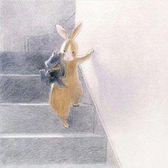 Chiaki Okada by sgyvip Children's Book Illustration, Character Illustration, Thomas Kinkade, Pixar, Bunny Art, Art For Art Sake, Art Sketchbook, Illustrations Posters, Cute Art