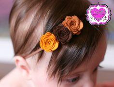 Rose Felt Headband Fall Rose Felt Flower by PACraftsfromtheHeart