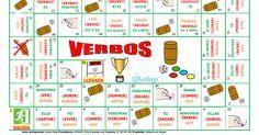 Tablero_Conjugación_Verbos.pdf Map, Note Cards, Board, Game, Location Map, Maps