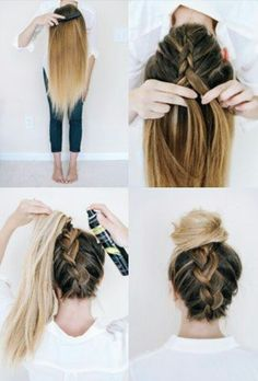 Up do, behind the head braide. So different yet so easy.