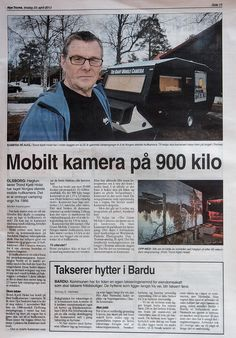 The Giant Mobile Camera in the local newspaper, and ready for wppd Photography Day, The Locals, Newspaper, Mens Sunglasses, Photo And Video, Style, Camera, Swag, Journaling File System