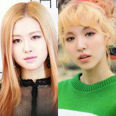 Blonde hair 💟 #blackpink #rose #parkchaeyoung #redvelvet #wendy #sonseungwan #레드벨벳 #손승완 #웬디 #블랙핑크 #박채영 #로제 Pink Velvet, Girls, Little Girls, Daughters