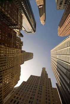 Manhattan looking up.  Looking up or down - one of the simplest way to take extraordinary shots!