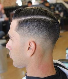 Side-part fade