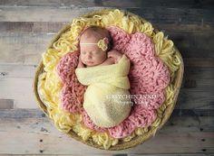 Flower Shape Baby Blanket for Photo Prop