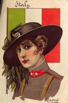 1920s Italy Woman Postcard by M. Cherubini ~ LÁMINAS ANTIGUAS 3-Ideas y Trabajos terminados (pág. 797)